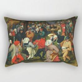 Pieter Bruegel The Elder - The Wedding Dance1607 Rectangular Pillow