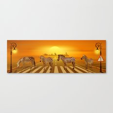 Use the zebra crossing Canvas Print