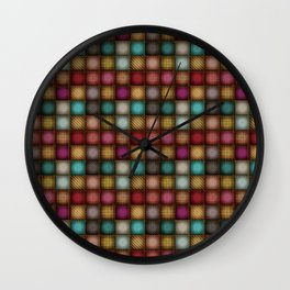 Colorful Denim Patchwork Wall Clock