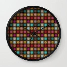 Colorful Denim Patchwork Wall Clock