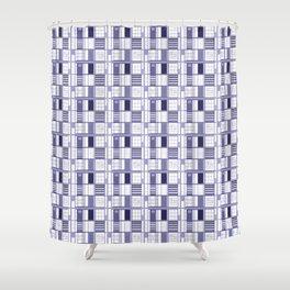Purple- Lavender -cuadricula Shower Curtain