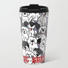 Original Sheepdogs On Watch Metal Travel Mug