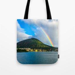 Hawaii Rainbow Mountain Tote Bag