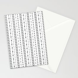 Black and white boho tribal pattern design Stationery Cards