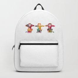 Three wise monkeys Backpack