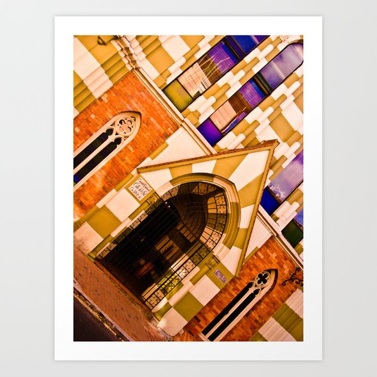 FRONT OF CHURCH Art Print