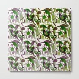 Classic Flourishes. (green/purple) Metal Print