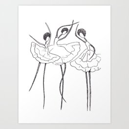 Ink and Ballet 3 Art Print