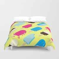 popsicle Duvet Covers featuring Popsicle by Sher Mavro ART