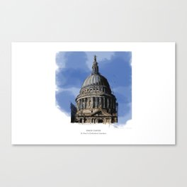 St Paul's Catherdral, London. Canvas Print
