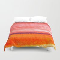 rothko Duvet Covers featuring Summer heat by Picomodi