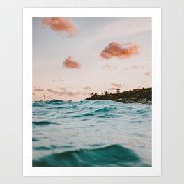 summer sunset iv Art Print