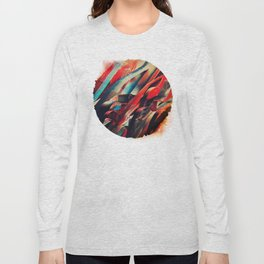64 Watercolored Lines Long Sleeve T-shirt