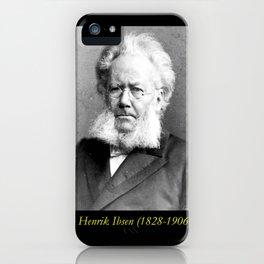 Schaarwachter  Portrait of Ibsen iPhone Case