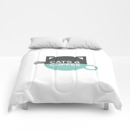 Cats and coffee Comforters