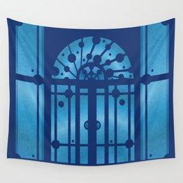Blue Door Wall Tapestry