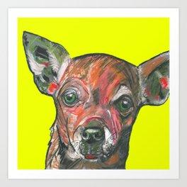 Chihuahua, printed from an original painting by Jiri Bures Art Print