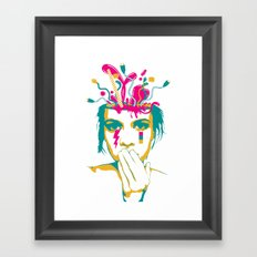 Liquid thoughts:Girl Framed Art Print