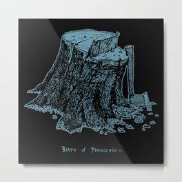 Birth of Pinocchio (black version) Metal Print