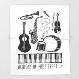 Weapons Of Mass Creation - Music Throw Blanket