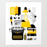 writing Art Prints featuring Creative Writing by koivo