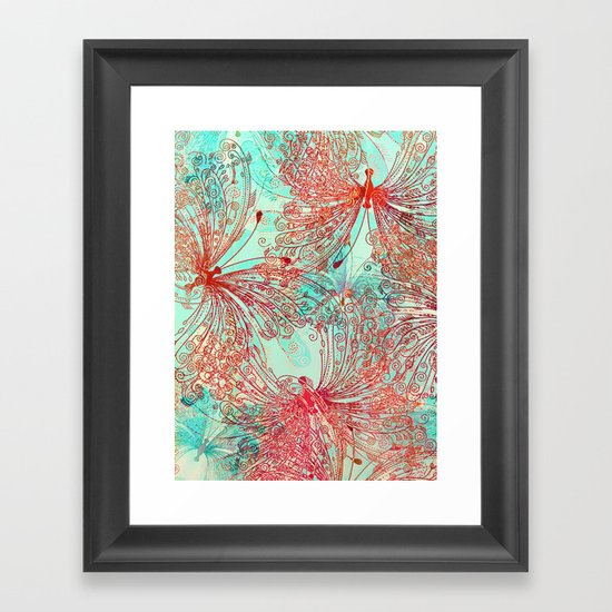 Butterfly Pattern Framed Art Print
