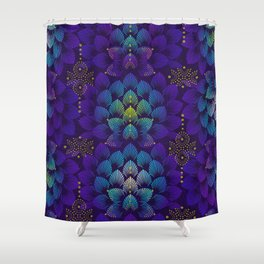 Variations on A Feather IV - Stars Aligned Shower Curtain
