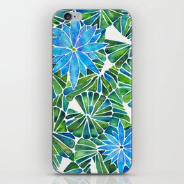 Water Lilies – Blue & Green Palette iPhone Skin