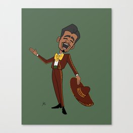 Mariachi Man Sings a Serenade Canvas Print