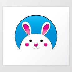 Chubby Bunny Art Print