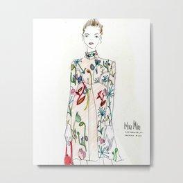 Miu Miu Illustration  Metal Print
