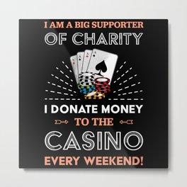 Funny Poker Casino | Gambling Gift Metal Print