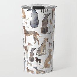 Greyhounds and Whippets Travel Mug
