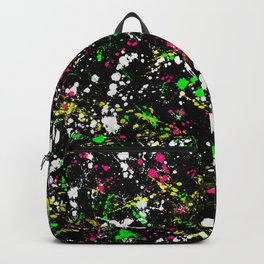 paint drop design - abstract spray paint drops 3 Backpack