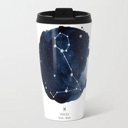Zodiac Star Constellation - Pisces Travel Mug