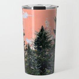 CORAL PINK WESTERN PINE TREES MOUNTAIN LANDSCAPE Travel Mug