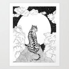 Tiger Moon Art Print