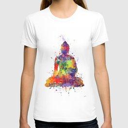 Buddha Watercolor Yoga Poster Zen decor T-shirt