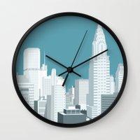 manhattan Wall Clocks featuring Manhattan by mauromod