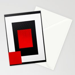 Geometric Abstraction - Red Stationery Cards