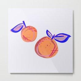Sassy Citrus Metal Print