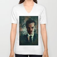 moriarty V-neck T-shirts featuring Moriarty by Sirenphotos