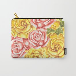 Pretty Watercolor Flowers Carry-All Pouch