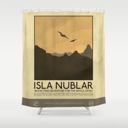 Silver Screen Tourism: Isla Nublar / Jurassic Park World Shower Curtain