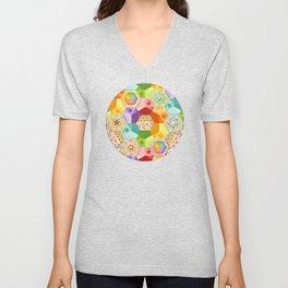 Circus Rainbow Hexagons Unisex V-Neck