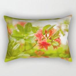 Azalea Il Tasso flowers red Rectangular Pillow