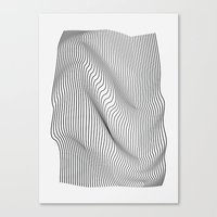 flag Canvas Prints featuring Minimal Curves by Leandro Pita