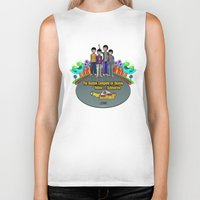 yellow submarine Biker Tanks featuring Yellow Submarine by The Beatles Complete On Ukulele
