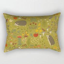 Hedgehog Meadow Rectangular Pillow