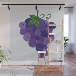 Grumpy Grapes // Alternatively Grapes of Wrath Wall Mural